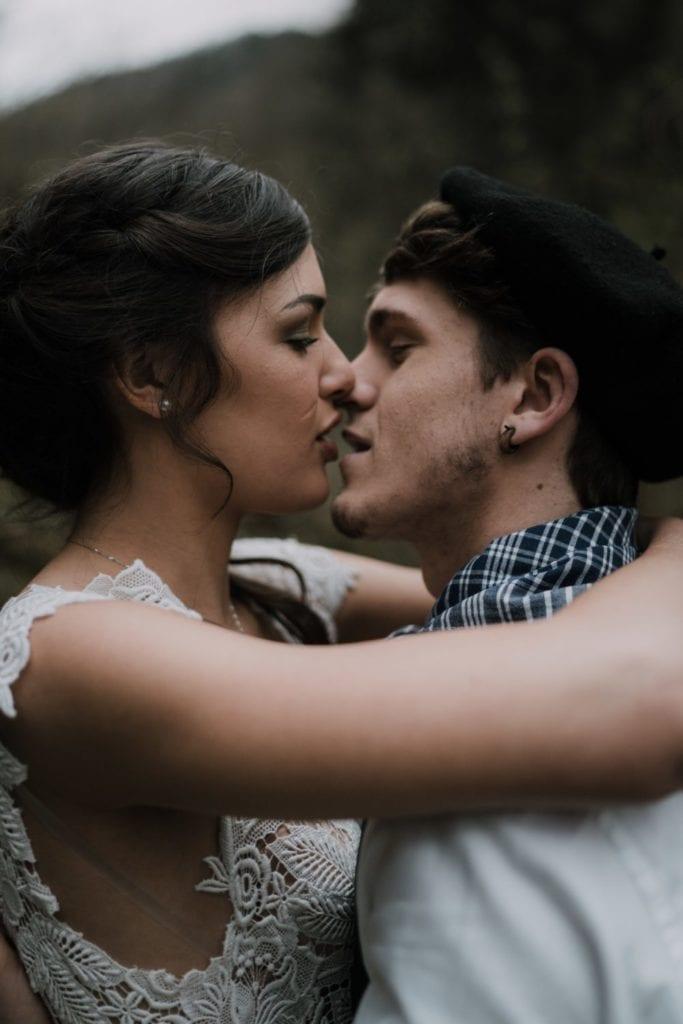 Couple de mariés pays basque photographe professionnel mariage
