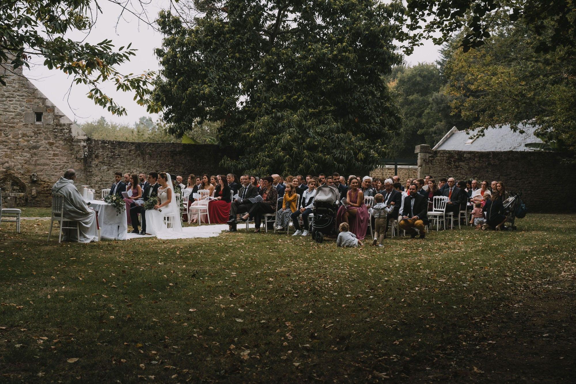 cérémonie religieuse extérieur domaine de kerenez loctudy