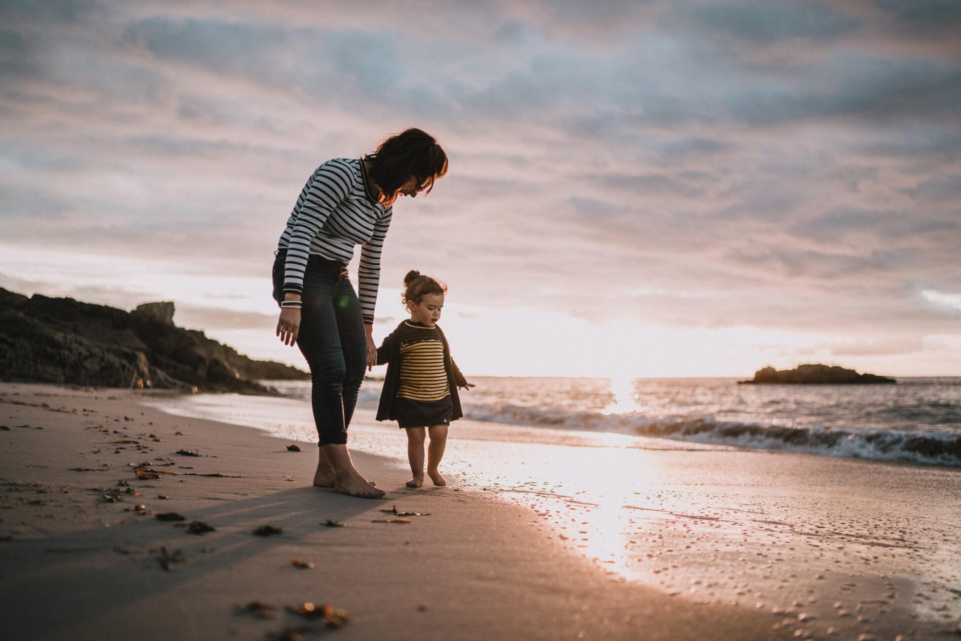 Photo de famille sur la plage à Brest