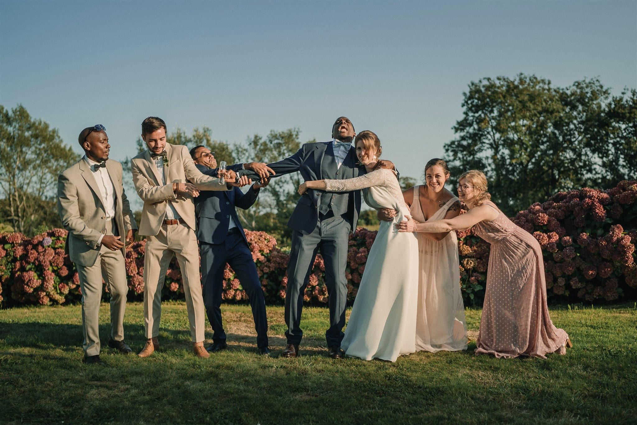 photo de mariage au manoir de kerhuel à Plounéour Lanvern